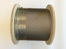 200m Stainless Steel Marine 316 Wire Cable Rope Decking Balustrade 7x7  3.2mm
