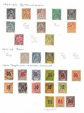 Mayotte stamps 1892 Collection of 27 CLASSIC stamps  CAT VALUE $495