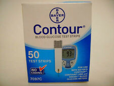 Bayer Contour Blood Glucose, 50 Test Strips Expiration Date 05/2018