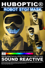Rave Mask Robot Mask STG0 / Light Up DJ Mask EDM Mask Dancer Glow Party Costume