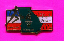 1996 OLYMPIC BASKETBALL PIN MCDONALDS FEEDING THE DREAM BASKETBALL PIN