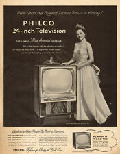 "1954 vintage tv AD  PHILCO 24"" Television Miss America Lee Meriwether  082215"