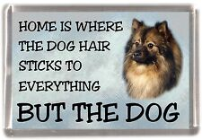 "German Spitz Dog Fridge Magnet ""Home is Where"" Design by Starprint"