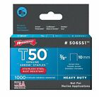 Arrow 506SS1 Stainless Steel T50 Staples, 3/8""