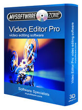 Editor De Video Pro-Edición De Video Cd Software Pc 32 64 Bit Dvd Avi Mpeg Mp4 editar