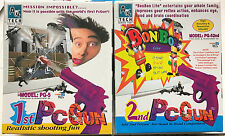 Vintage PCGUN Game A4 Tech Incl. BOTH 1st & 2nd Gun PG-5 PC DOS WIN95 NEW SEALED