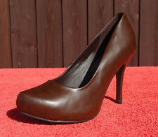 Damen Pumps von Patrizia Dini by Heine / Stiletto High Heels Braun Gr. 41 NEU