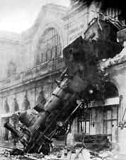 Train Wreck At Montparnasse 1895 A4 Photo Print
