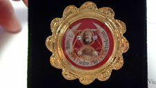 Reliquary relic of Padre Pio Sanguine w/ COA relic with gold wax seal limited
