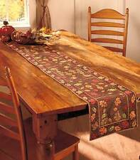 Decorative Table Runner Harvest Thanksgiving Leaves Fall Autumn Decor Brand New