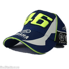 NEW BLUE Valentino Rossi VR46 Moto GP Baseball Cap Hat Yamaha 3D Embroidered