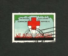 The British Red Cross in the Dominican Republic poster stamp used ex Jim Czyl