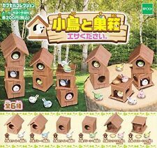 Bird And Birdhouse Bait 6 Pics Set Capsule Toys Gashapon From Japan