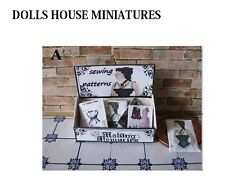 VINTAGE SHOP COUNTER DISPLAY SEWING PATTERNS  DOLLSHOUSE MINIATURE