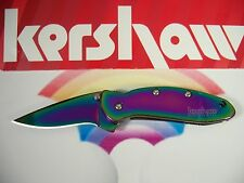 "KERSHAW ""USA"" Titanium RAINBOW CHIVE  Assisted SPEEDSAFE Knife w SAFETY 1600VIB"