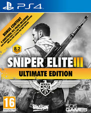SNIPER ELITE III ULTIMATE EDITION PS4 FIRST PERSON SHOOTER NEW SEALED OFFICIAL