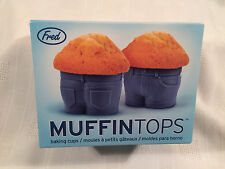 Fred MUFFIN TOPS Baking Cups, Blue Jeans, Set of 4 - NEW IN BOX -