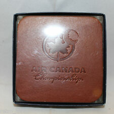 Air Canada Championship PGA Tour Golf Set of 6 Leather Coasters Souvenirs (B)