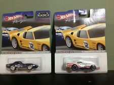 Hot Wheels 2012 ROADRCR ** James Garner's Copo Corvette & '76 Greenwood Corvette