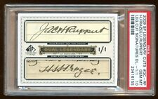 PSA 10 JACOB RUPPERT / HARRY FRAZEE DUAL CUT SIGNATURE 1/1 AUTOGRAPH 2009 UD WOW