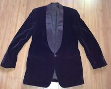 Men's Giorgio Armani Black Label Shawl Tuxedo Jacket ONLY Brown Velvet 90's
