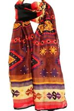 NEW Chocolate Brown Aztec Print Large Maxi Scarf Stole Sarong Wrap Fast Ship