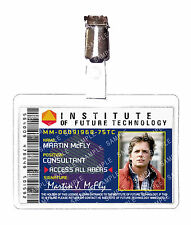 Back To The Future Institute Marty Mcfly ID Badge Cosplay Prop Costume Comic Con
