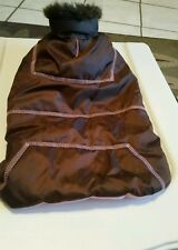 Companion Road Brown and Pink Dog Puffer Jacket size M
