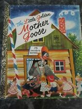 THE LITTLE GOLDEN MOTHER GOOSE HARDCOVER BOOK 75 RHYMES 1977