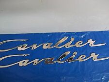 """PAIR OF Chris Craft Cavalier 17""""  Logo Emblem Nameplate NOS 2"""