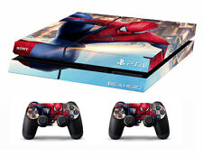 PS4 vinyl Skin Stickers spiderman style for Console & 2 controllers