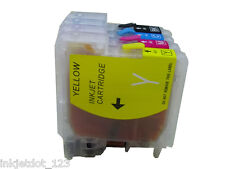 4 Pack Refillable ink cartridge for Brother LC61 MFC-990CW MFC-J220 MFC-J265W
