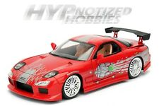 JADA 1:24 FAST AND FURIOUS 8 DOM'S MAZDA RX-7 DIE-CAST RED 98338