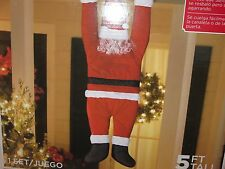 NEW 5' HANGIN ON SANTA CHRISTMAS Decoration Indoor Outdoor
