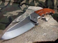 Couteau Tactical Mtech Xtreme A/O Lame Acier 440C Manche Bois MTXA829SW