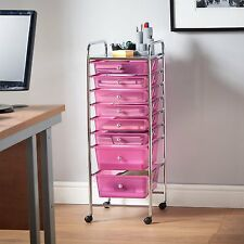Storage Containers with Drawers on Wheels Craft Supply Organizer Cart Rolling