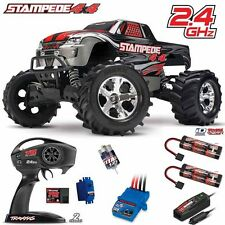 Traxxas 67054-1 1/10 Stampede 4X4 Truck 4WD Silver RTR w/ TQ + Extra iD Battery