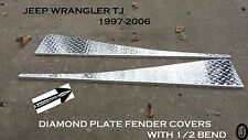 Jeep wrangler TJ Diamond Plate Full Top Fender Covers With Bend.
