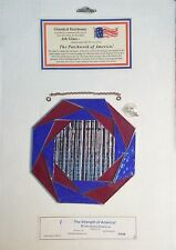 PRE CUT STAINED GLASS KIT Strength In America JOB GLASS Stained Glass Supplies