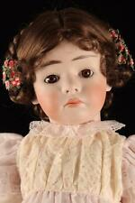 "Rare 24"" Antique Repro Bisque German Gebruder Heubach 7246 Pouty Doll Compo Body"