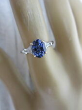 STUNNING 14 KT GOLD 1.56 CTW TANZANITE AND DIAMOND RING !!!!!!!