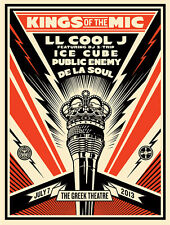 Sought-after SHEPARD FAIREY Obey KINGS OF THE MIC Art Print -Signed by LL Cool J