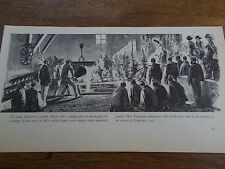 Europeans demonstrate foundry skills to Emperor Meiji in Japan B/W Print c19th