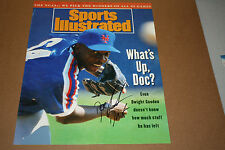 NY METS DWIGHT DOC GOODEN SIGNED 11X14 SI COVER PHOTO W/DR. K INSCRIPTION