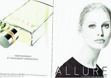 PUBLICITE ADVERTISING 046  1998   Allure parfum femme  de Chanel ( 2p)