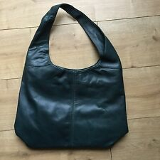 Ladies Real Italian Leather Large Slouch Hobo Shoulder Handbag Tote Bag