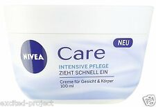 Nivea Intensive Creme Care With Quickly Absorbed Formula - 100ml / 3.38 fl oz