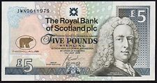 2005 ROYAL BANK OF SCOTLAND PLC £5 BANKNOTE * JWN 0611979 * UNC *