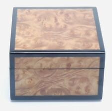 LACQUERED BURL WOOD VENEER PRESENTATION BOX/JEWELRY BOX