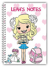 CHILDREN'S A5 NOTEBOOK/ PERSONALISED STATIONARY/ KIDS 50 BLANK PAGE NOTE PAD/ 07
